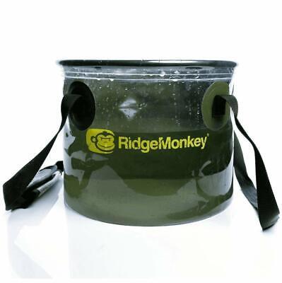 New RidgeMonkey Ridge Monkey Perspective Collapsible Water Bucket 50/50 10L