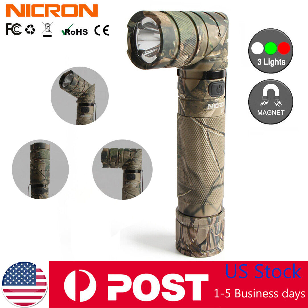 Nicron 950LM Magnetic Twist 90° Tactical Flashlight