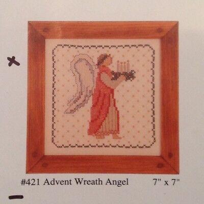 Advent Wreath Craft (Country Stitching Advent Wreath Angel #421 Cross Stitch Sampler Kit Linen 7 x)