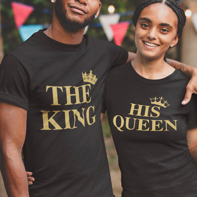 The King His Queen T Shirt  Husband Wifey Boyfriend Girlfriend Valentines Gift