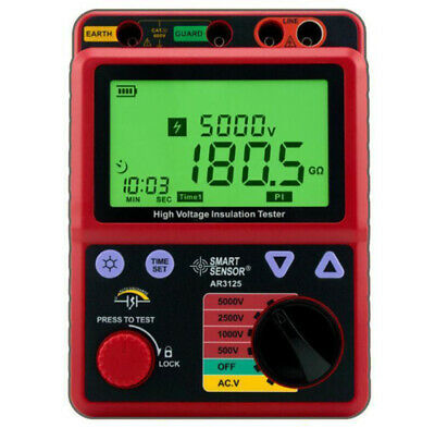 Insulation Resistance Tester Meter High Voltage 5kv Megohmmeter Smart Sensor