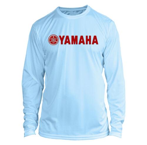 Yamaha Long Sleeve Microfiber UPF Fishing Shirt Arctic Blue