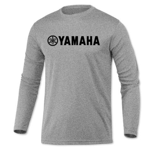 Yamaha Long Sleeve Microfiber UPF Fishing Shirt Heather Gray