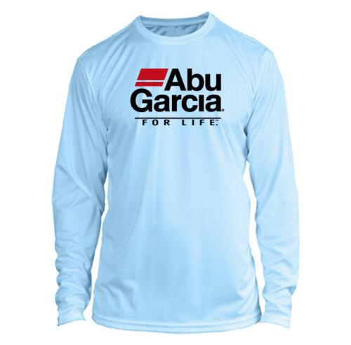 Abu Garcia Long Sleeve Microfiber UPF Fishing Shirt Arctic Blue