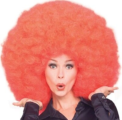 Giant Oversized Afro Wig Red Curly 60s 70s Big Redhead Oversize Adult - Fast - Oversized Afro Wig