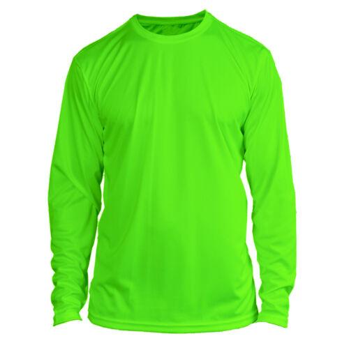 Microfiber Long Sleeve Fishing Shirt UPF 50 NEON GREEN - N/G
