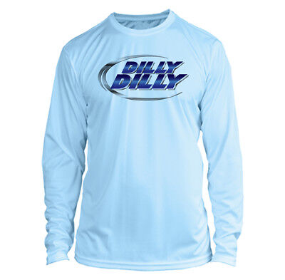 Bud Light Dilly Dilly Long Sleeve Microfiber Upf 50 Fishing Shirt   Arctic