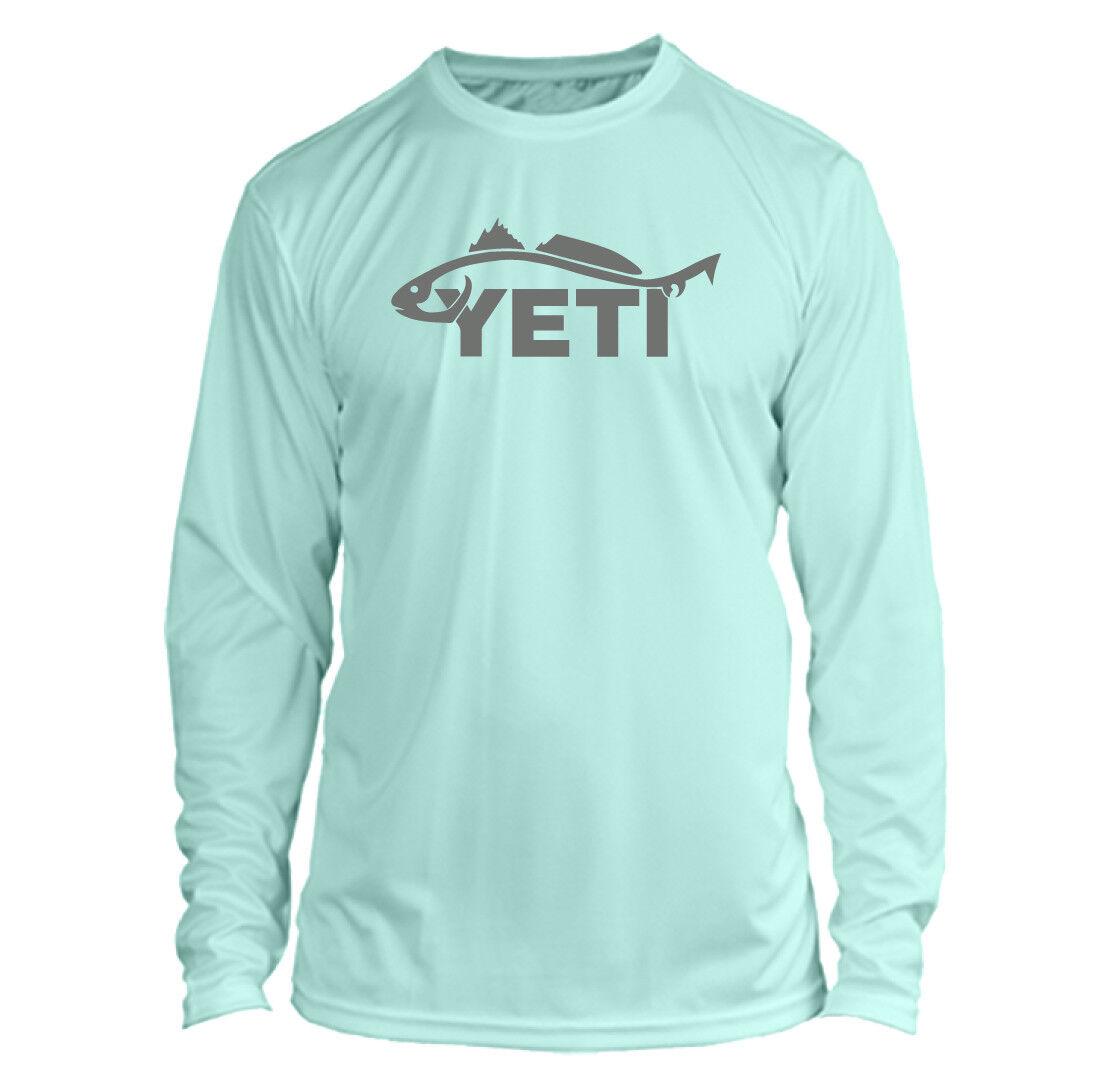 Yeti Redfish Long Sleeve Microfiber UPF Fishing Shirt - Seaf