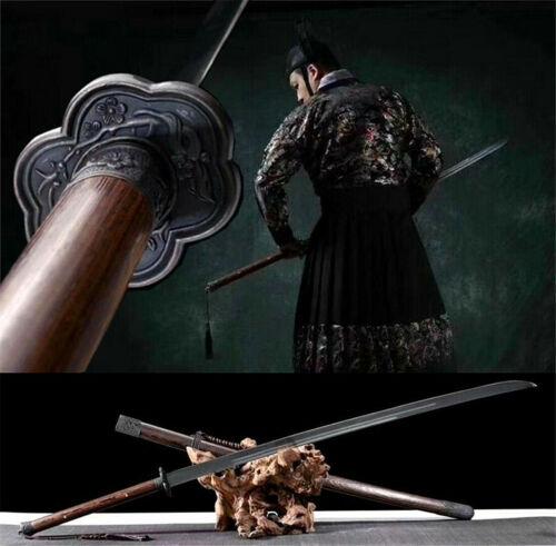 Chinese KungFu Sword Katana Saber Miao Dao Sharp High Manganese Steel Fighting K