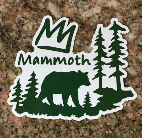 mammoth mountain sticker ski snowboard camping fishing