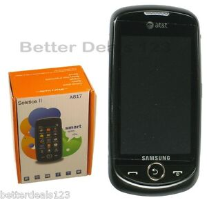 New Samsung Solstice II SGH-A817 - Black (AT&T) 3G Cell Phone Touchscreen