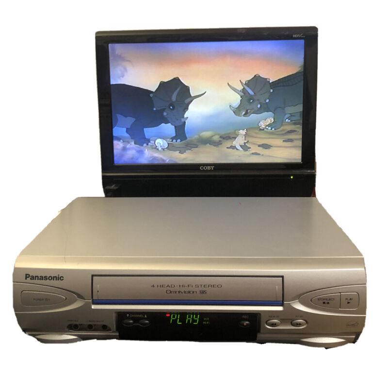 Panasonic 4 Head Omivision VCR, PV-V4523S, Tested & Works, No Remote