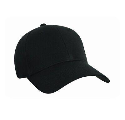 Nu-Fit Pro Style Cotton Spandex Fitted Cap Black Size S/M Pro Cotton Cap