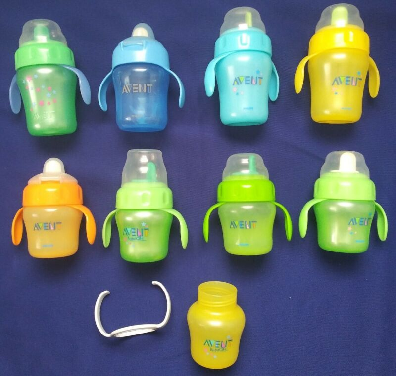 Avent Assorted Sippy 7 and 4 ounce 8 Cups