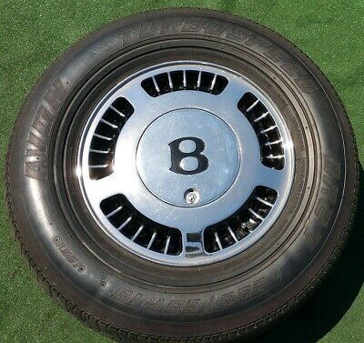 Factory Bentley Turbo Wheels Tires Chrome R Set of 4 OEM Continental Rolls Royce