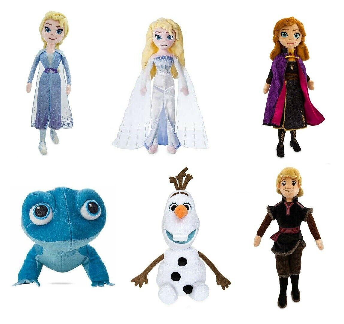 Disney Frozen 2 Plush Doll Collector Set SALAMANDER Elsa Kristoff Olaf Sven Gift