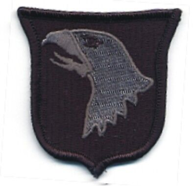 - Subdue ACU Grey Gray Black 101st Airborne Eagle Shield Badge Patch