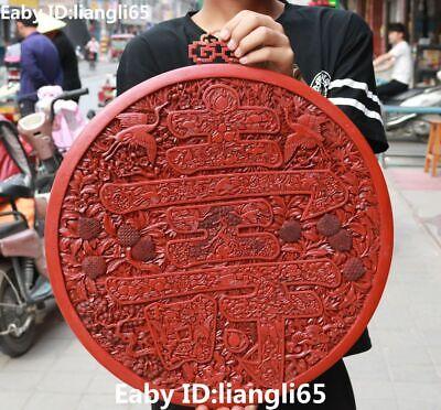 21 Wood Lacquerware Mandschurenkranich Shou Word Hanting Screen Byobu Fokan