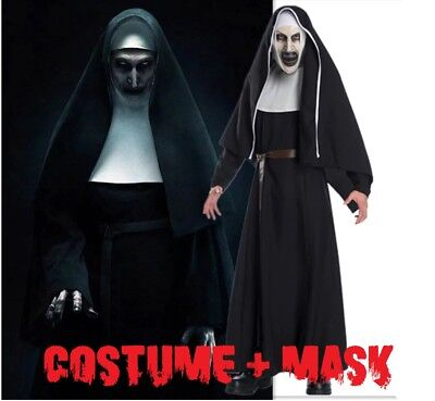 The Nun Costume Movie Horror Halloween High Quality Cosplay Adult Scary Nuns (Movie Quality Halloween Costumes)