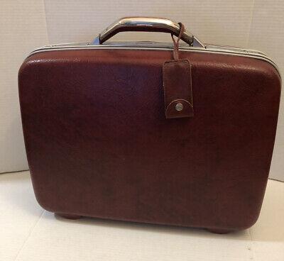 "Vintage Samsonite Silhouette II Suitcase Burgundy Luggage 20""x15""x7"" Hard Case"
