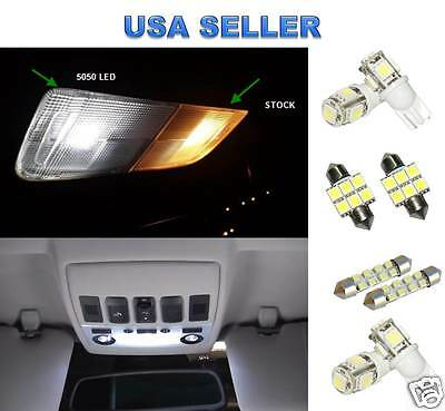 8x White Led Lights Bulbs Interior Package Kit For Honda Accord 2003-2012