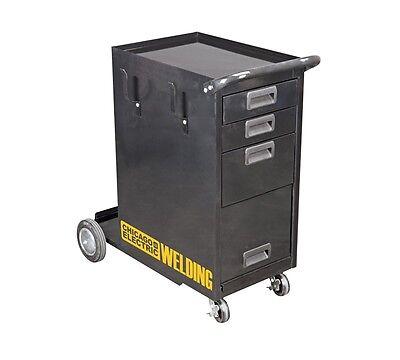 Welding Cart With Drawers Cabinet Welder  Mig Tig Arc Flux Plasma Wheel Tank