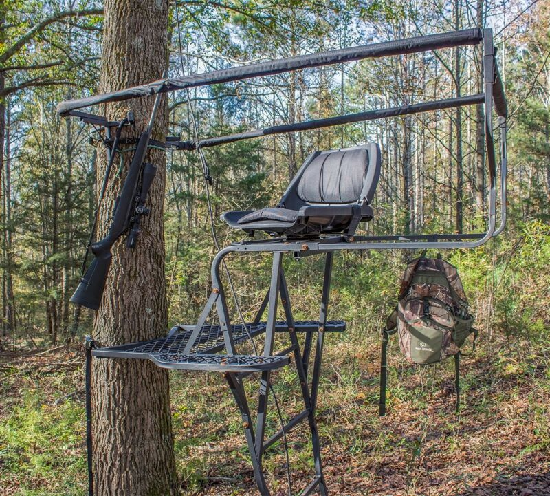 NEW Skunk Ape INNOVATIVE 360 degree view ladder stand for hunting