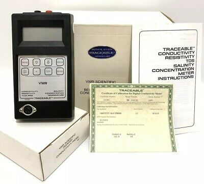 Vwr Scientific Traceable 23226-505 Digital Conductivity Salinity Tds Ppm Meter