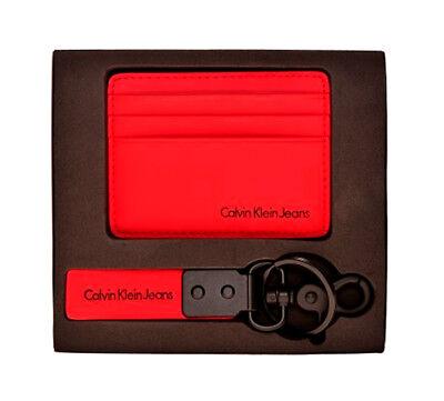CALVIN KLEIN Kreditkartenetui mit Schlüsselanhänger Rot, Herren