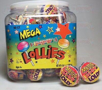 Smarties Lollipops (60 Smarties Mega Lollies ~Huge Lollies~)