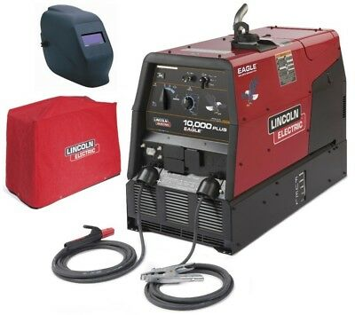 Lincoln K2343-3hc Eagle 10000 Plus Welder Generator With Adf Helmet Cover