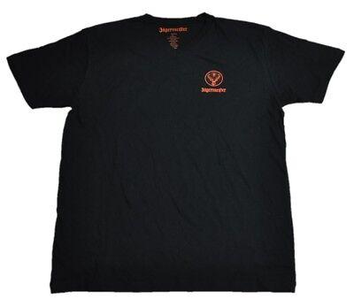 Jägermeister USA V-Neck T-shirt schwarz Größe M Logo Motiv