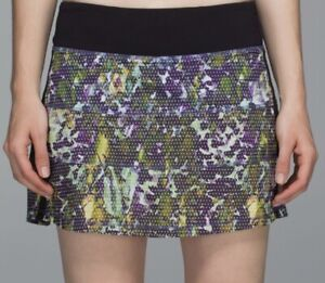 ⭐️⭐️LULULEMON COLORFUL CAMO PACE RIVAL SKIRT WITH SHORTS!⭐️⭐️