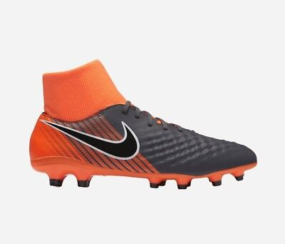 8f7fce7caa9c Nike Magista Obra II Academy DF FG Grey Orange Cleats AH7303 080 Mens Size  12.5