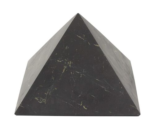 Shungite Pyramid UNPOLISHED 100 x 100 mm ~4x4 inch aprx EMF Shield Healing Stone