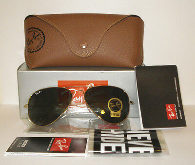 "Ray-Ban Unisex ""Aviator"" Classic Sunglasses/ RB3025/ L0205 Green G15 Lens 58 mm"