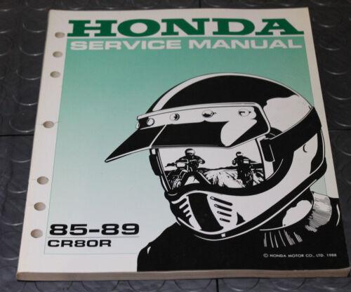 NOS OEM Honda Service Shop Manual NEW 85-89 CR80R CR 80 R