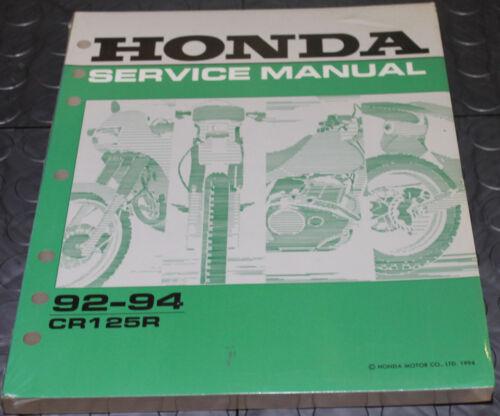 NOS OEM Honda Service Shop Manual NEW 92-94 CR125R CR 125 R