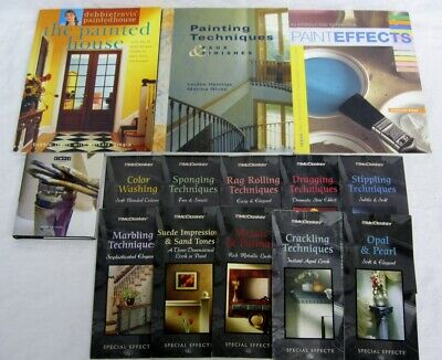 Painting Techniques & Faux Finishes Painted House 4 Book Lot + 10 Pamphlets