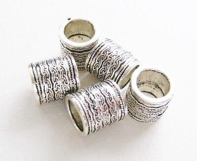 13x14mm für Bänder 10mm 5 Stück Großloch Perlen SERAJOSY (Große Bänder)