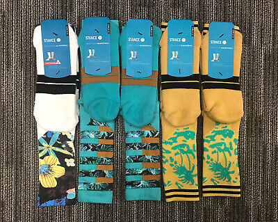 5 Pairs Of Stance Fusion Basketball Socks L/XL 9-13