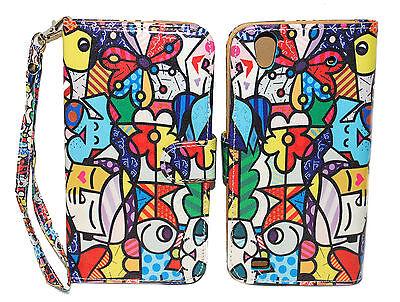Funky Pattern Design Wallet Leather Case for ZTE Quartz Z797C  Pattern Design Case