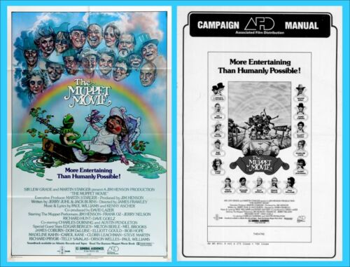 THE MUPPET MOVIE pressbook AND ONE SHEET POSTER, Jim Henson, Kermit, Miss Piggy