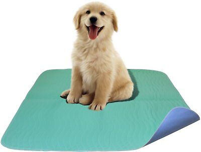 2 PACK - Premium Waterproof Reusable / Quilted Washable Large Dog pads / -