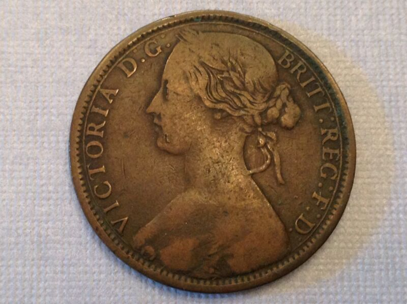 Great Britain 1862 Victoria One Penny