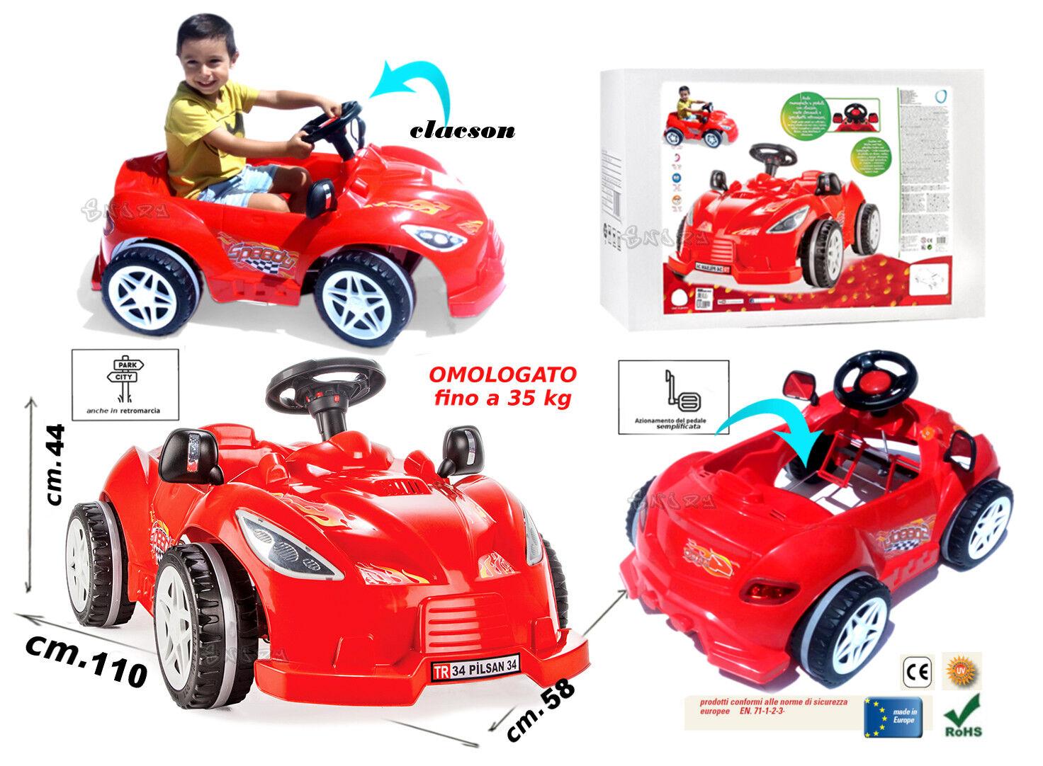 Maschine A Pedale für Kinder Auto Rot Schwimmbare Go Kart A Pedale art.498