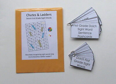 3 Teacher Created Activities Dolch First Grade Sight Word Game & Flashcard Rings ()