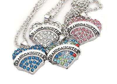 (Granddaughter Heart Pendant Chain Necklace- Ginger Lyne Collection)