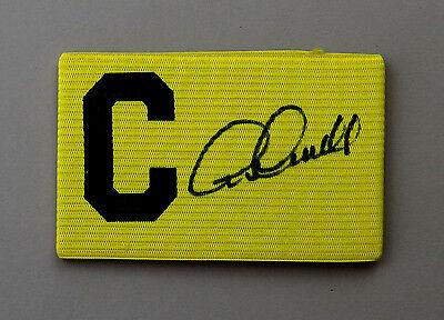 Archie Gemmill Signed Captains Armband Derby Scotland Autograph Memorabilia +COA