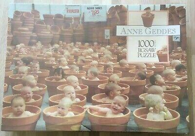 ANNE GEDDES Jigsaw 1000 Piece NEW Sealed - 1997 Vintage Flower Pots Babies -